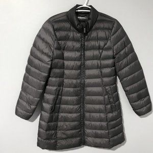 Sinequanone Charcoal light weight puffy coat parka